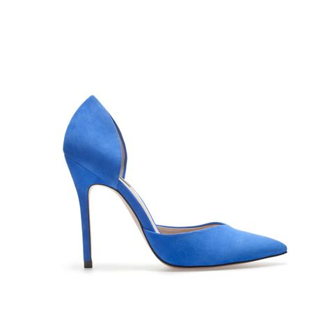blue high heels shoeniverse zara blue high heel d orsay shoe
