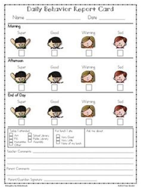 daily behavior report card template 7 best images of preschool behavior chart school