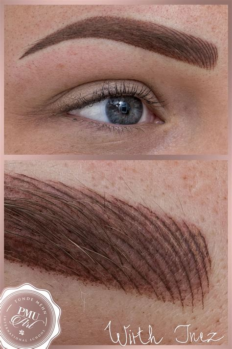 new eyebrow tattoo technique combined eyebrow hairstroke and ombre technique