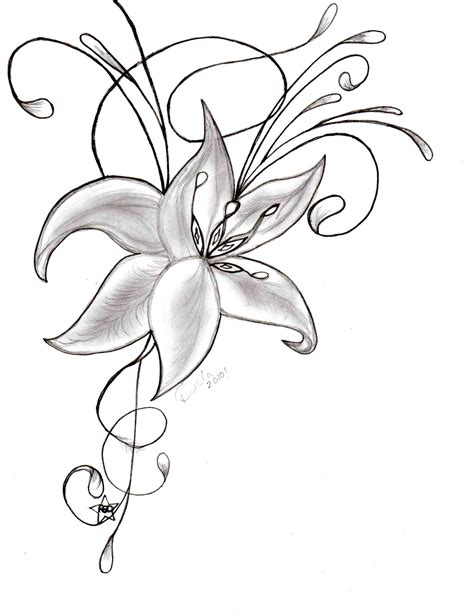 Easy Real Flowers To Draw by How Easy Step By Step Drawings Of Flowers To Draw A Flower