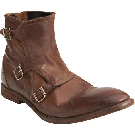 monk boots mens mcqueen monk boot in brown for lyst