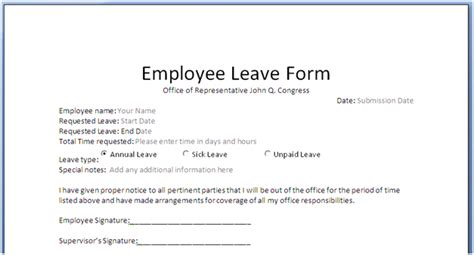 Sick Leave Request Sle by Application Letter For Leave Doc 28 Images Doc 8501100 Sick Leave Application Letter Format