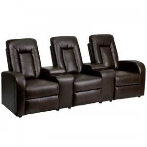 black or brown leather reclining theater sectional home