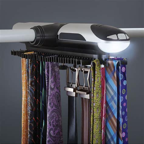 the motorized tie rack hammacher schlemmer