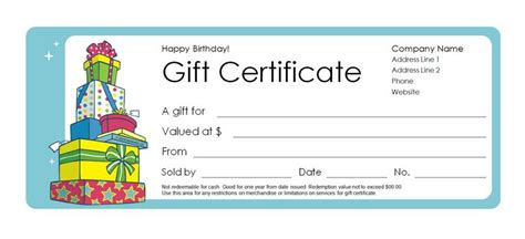 Where Can I Buy Blank Gift Certificates 173 Free Gift Certificate Templates You Can Customize