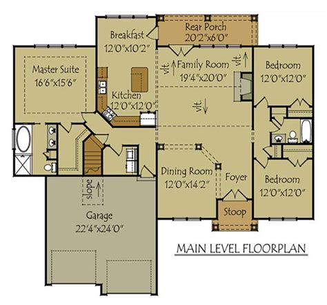 cottage designs floor plans 1 story 3 bedroom house plan oak mountain cottage
