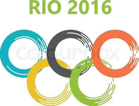 olympic colors olympic olympic circles of paint strokes 2016