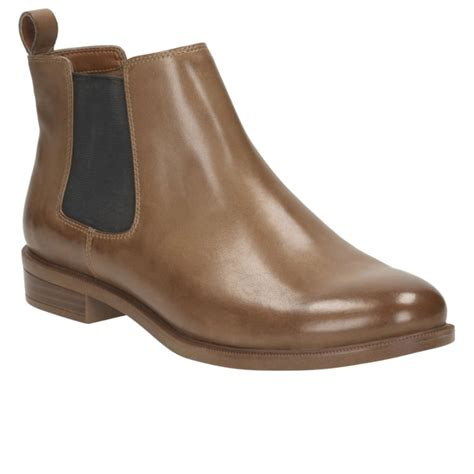 clarks shine womens wide chelsea boots from