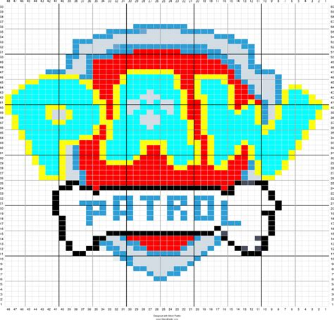 pattern maker cross stitch paw patrol c2c crochet blanket pinterest paw patrol