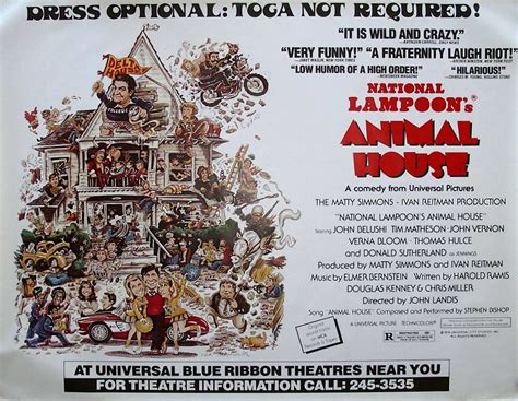 animal house poster iconic movies filmed in oregon part three 1975 1989 offbeat oregon history