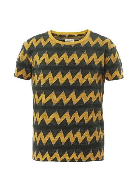 Tshirtkaos Priat Shirt Distro Levis levi s zigzag print t shirt in yellow for black lyst