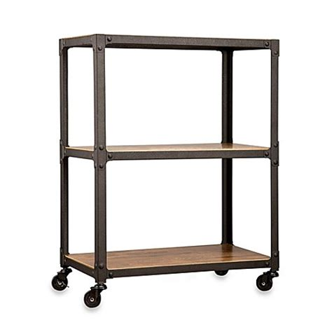 bed bath and beyond cart wood and metal 3 tier rolling cart bed bath beyond