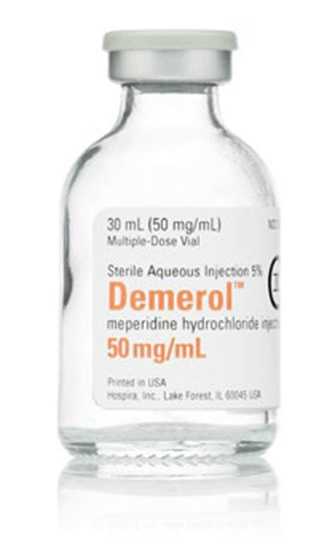 Demerol Detox by Meperidine Iv Preparations Opiate Addiction Treatment