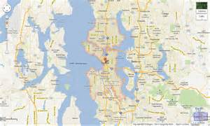 Google Map Seattle by Gallery For Gt Seattle Map Outline