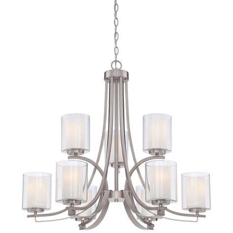 minka chandelier minka lavery parsons studio 9 light brushed nickel