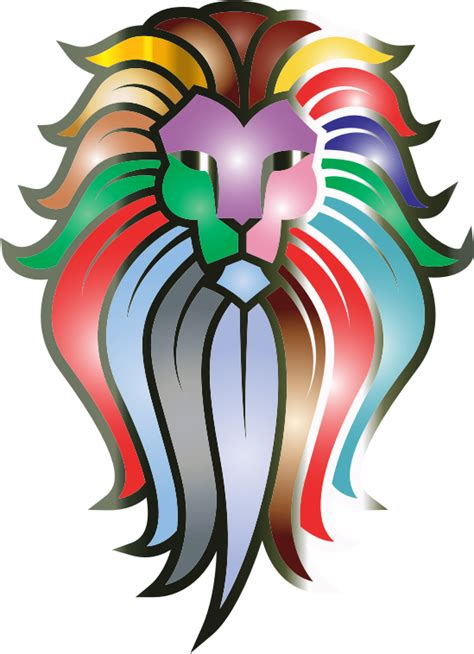 clipart chromatic lion face tattoo 7