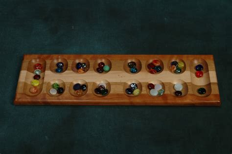 Handmade Mancala Board - items similar to mancala board hardwood board