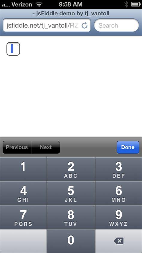 html input pattern ios jquery ui widgets vs html5 tj vantoll