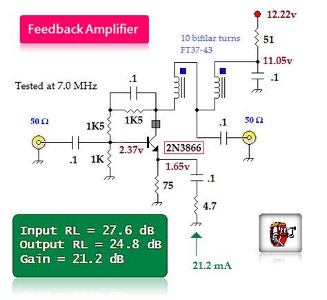bipolar transistor rf lifier bipolar transistor feedback lifier lifier circuit circuit diagram seekic