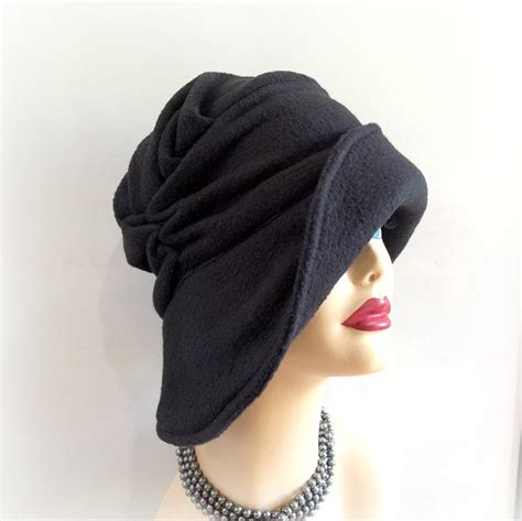 black winter hat s fleece hat soft fabric hat