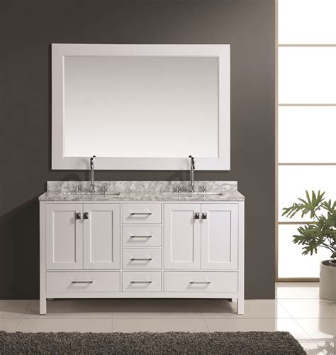 home design outlet center bathroom vanities london 60 quot double sink vanity set in white finish