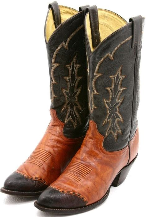 Sepatu Country Boots Black 02 tony lama mens cowboy boots size 10 d orange brown teju
