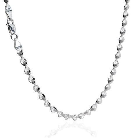 Twist Silver Necklace sterling silver cut flex magic twist necklace 3