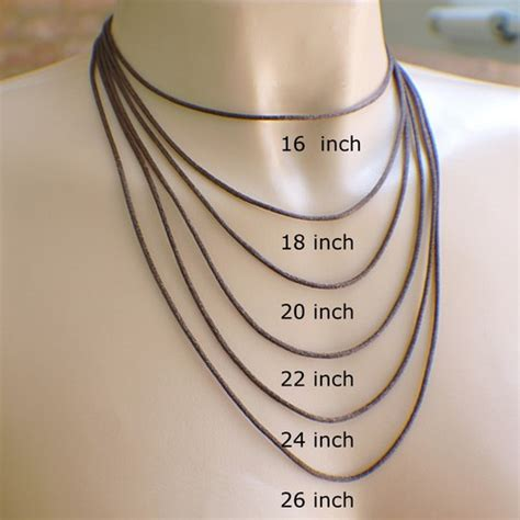 what does an 16inch length halo look like on a woman chocolate brown satin necklace cord choose your length