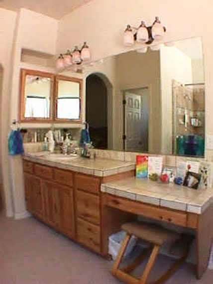bath bathroom sw vigas latillas pine poles az arizona