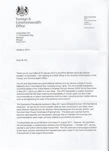 Response Letter To Site Visit Seychelles Reality Seselwa Unite Seychelles Freedom Receives Response From Letter To