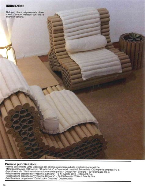upholstery cardboard ecodesign furniture armchair made up recycling plotter