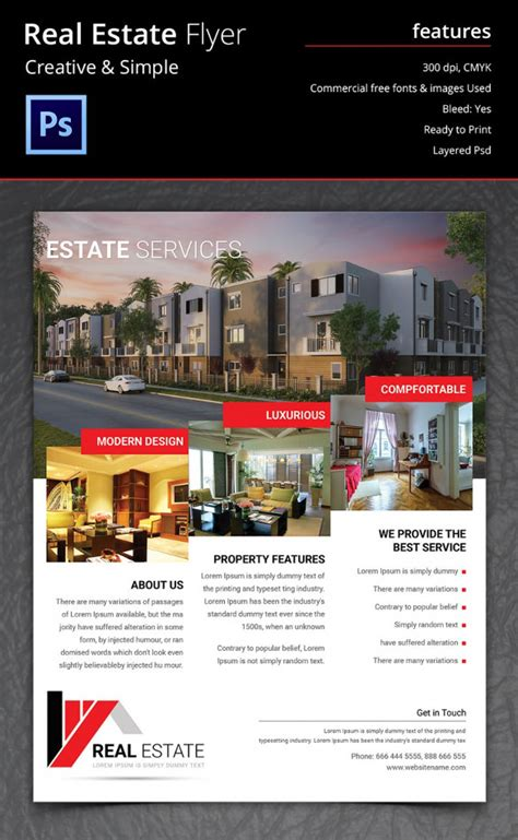 templates for real estate flyers 41 psd real estate marketing flyer templates free