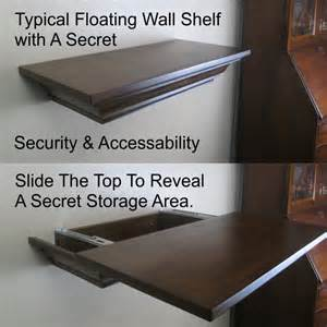 top secret sliding top storage shelf covert storage gun