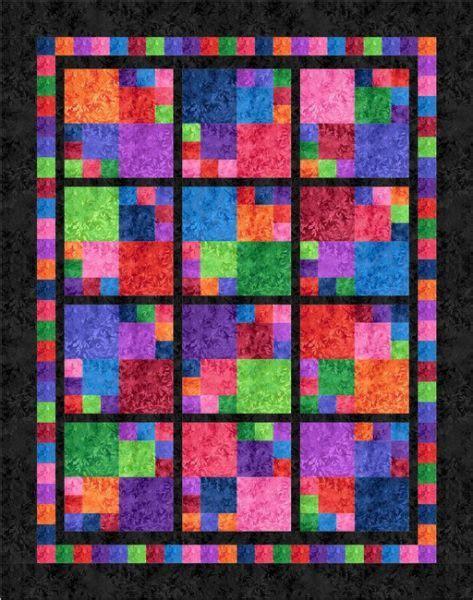 Logan Patchwork - tiles quilt kit version with black logan s