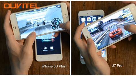 iphone 6s plus vs oukitel u7 pro gizmochina
