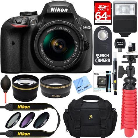 Tas Dslr Nikon 2 Lensa store nikon d3400 24 2 mp dslr af p dx 18 55mm vr nikkor lens kit accessory