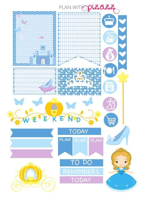 free printable disney planner stickers 283 best images about princess cinderella on pinterest
