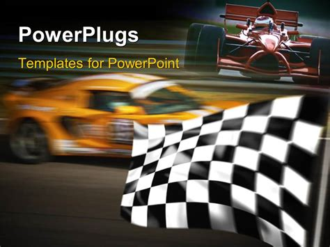 car themes for ppt powerpoint template formula one race with blurred