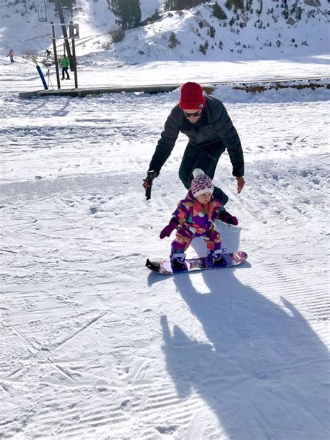 1 year skiing 1 year toddler successfully hits the slopes on a