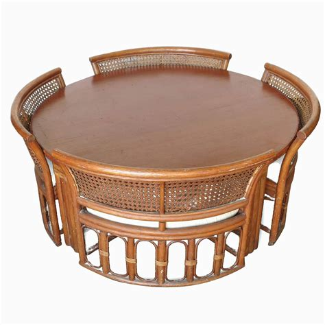 table with hidden chairs rattan and wicker dining coffee table with hidden chairs