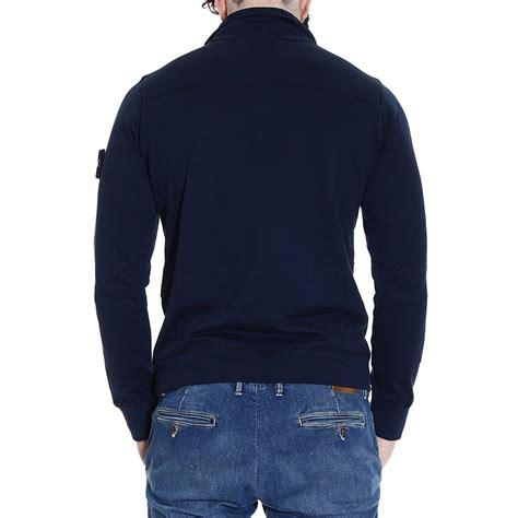 Sweater Baseball Polos Cotton Fleece lyst island sweater knit fleece or hooded fleece polo ribbed wool in blue for