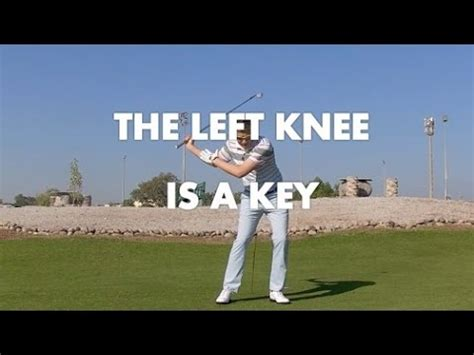 leg movement in golf swing golf swing left knee movement is a key youtube