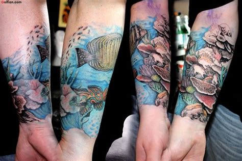45 amazing aqua fish tattoo brilliant aqua sleeve