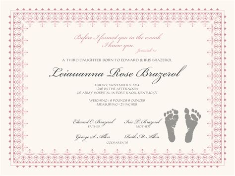 birth certificate with baby footprints baby certificate
