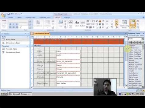 cara membuat tabel query form report membuat tabel relationships form report dan query pada