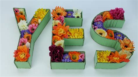 whip  easy floral cardboard letter decor