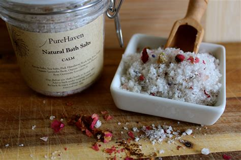 Herborist Bath Salt Calming Lavender 250 Gr luxury bath salts soak handcrafted all botanicals net 250 grams purehaven naturals