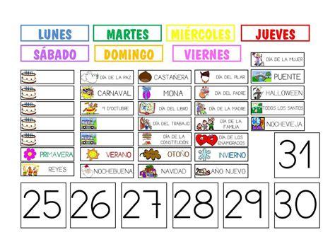 Calendario F Colegios Calendario Colegio Clima Aula Y Rutinas