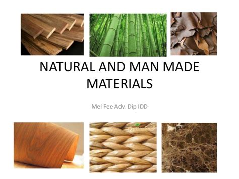 natural materials natural and man made materials