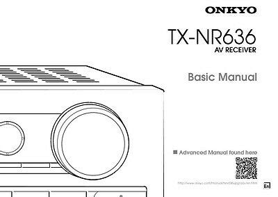Onkyo Integra Tx Nr636 Basic Receiver Owners Instruction